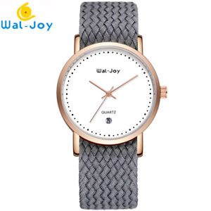 【送料無料】waljoy 2018 women student nylon weaving straps sports casual watches quartz