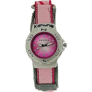【送料無料】kahuna ladiesgirls analogue pink 5atm water resistant easy fasten strap watch