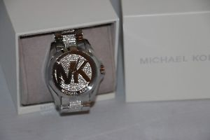 michael kors womens bradshaw crystal glitz watchmk6487 or mk6486