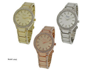 【送料無料】 geneva platinum ladies rhinestone bracelet wrist watch