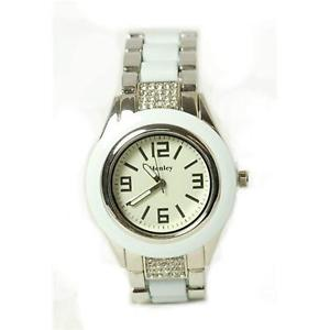 【送料無料】henley glamour ladies bling white brac strap watch