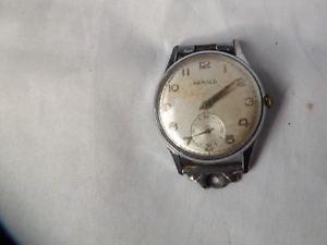 【送料無料】a vintage stainless steel cased gents herald watch