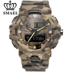 【送料無料】smael sports military watches army digital led 50m waterproof gifts for him men