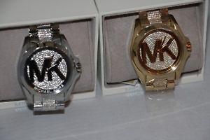 【送料無料】michael kors womens bradshaw crystal glitz watchmk6487 or mk6486
