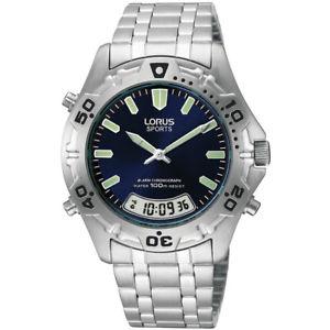 【送料無料】lorus gents alarm chronograph digital analogue watch lnp rvr55ax9