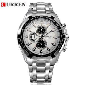 【送料無料】curren quartz men watches top luxury men military wrist watches full steel m