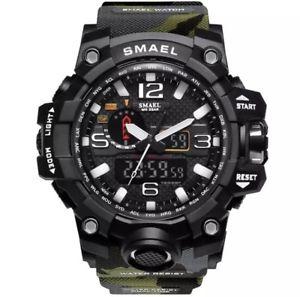 【送料無料】smael camo sport watches for men waterproof digital watch mens wristwatch *uk*