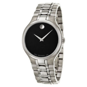 【送料無料】995 nwt movado mens museum bracelet watch 0606367 stainless steel swiss made