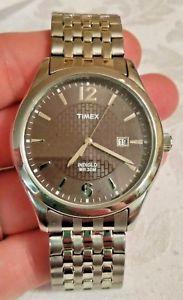【送料無料】timex indiglo 30m wr cr 2016 cell mens wrist watch silver