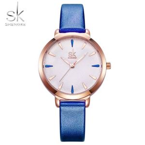 【送料無料】shengke fashion watch colorful causal quartz female blue gold xmas gifts for her