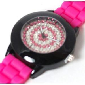 【送料無料】henley glamour ladies bling pink sport strap watch
