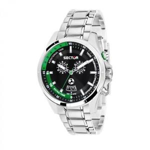 【送料無料】orologio multifunzione uomo sector master r3253505001 acciaio nuova collezione