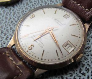 【送料無料】vintage accurist 21 jewel mens 9ct gold wrist watch