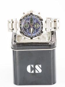 【送料無料】orologio cs collection uomo da polso cronografo nauticamare acciaio watch