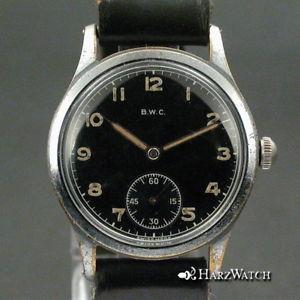 【送料無料】bwc dienst uhr german mens wristwatch ca 1942