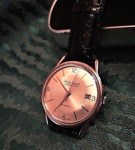 【送料無料】orologio automatico philip watch chaux de fonds 21 rubini acciaio