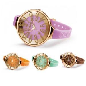 【送料無料】orologio donna hoops glam l joy colorato silicone nuova collezione gold rose