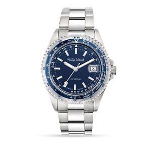 送料無料 orologio solo tempo uomo philip watch caribe r8253597020 cassa acciaio quadranteIWE9eH2YbD