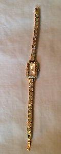 waltham quartz rhinestonestudded wristwatch