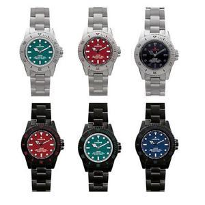 【送料無料】orologio uomo hoops curved bracciale acciaio nero blu verde rosso