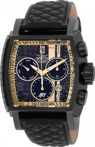【送料無料】invicta mens jason taylor chronograph 100m stainless steel leather watch 22381