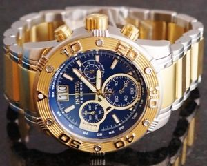 mens invicta 0761 reserve ocean speedway chronograph two tone bracelet watch