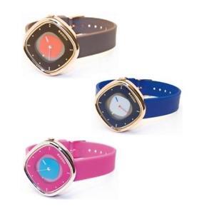 【送料無料】orologio donna hoops capri ros silicone marrone fucsia blu lady