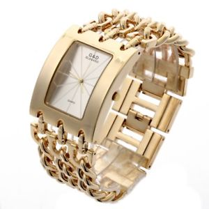 【送料無料】gamp;d luxury golden womens quartz wristwatch womens bracelet watch relogio fe