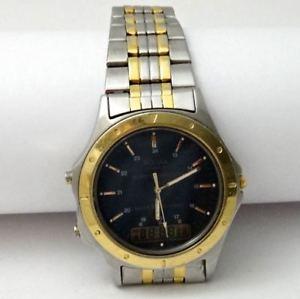 vintage pulsar quartz watch 241335 alarm chronograph, water 100m resist, works