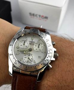 【送料無料】orologio sector sge 800 chrono watch swiss sapphire crystal nos vintage 40mm