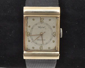 【送料無料】wyler vetta vintage 1940 mans deco rectangular watch 14k solid gold exc
