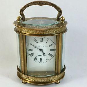 【送料無料】orologio da tavolo elliott amp; son london in ottone a carica manuale anni 50