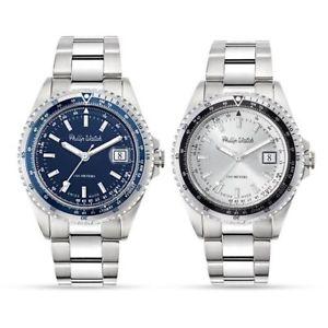 【送料無料】orologio solo tempo uomo philip watch caribe acciaio silver blu data watch steel