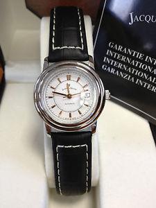 【送料無料】jacques du manoir swiss made womens crocodile embosed leather automatic watch