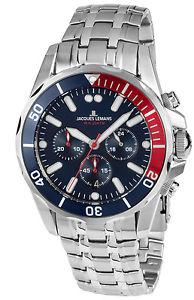 【送料無料】jacques lemans herrenchronograph liverpool diver chrono 11907zf