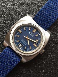 【送料無料】bwc all steel vintage swiss made mens diver watch 37mm automatic eta 2783
