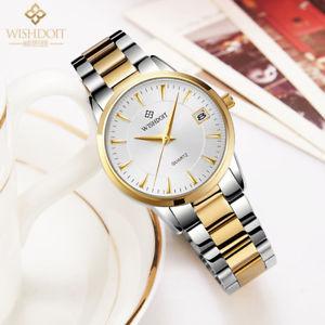 【送料無料】wishdoit watch women fashion luxury watch relojes mujer stainless steel quar