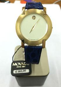 【送料無料】orologio movado watch nuovo 30 m swiss pelle blu 560702621 watch blue leather