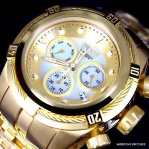 invicta reserve bolt zeus mop gold plated steel 52mm chronograph watch