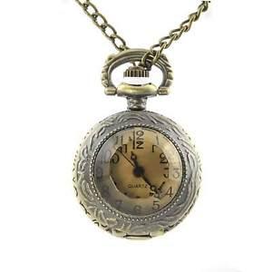 【送料無料】montre collier pendentif quartz devon dor