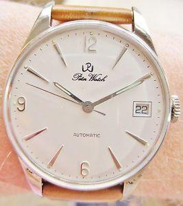 【送料無料】stylish 1970s gents solid silver auto eta 28242 peter watch serviced warranty