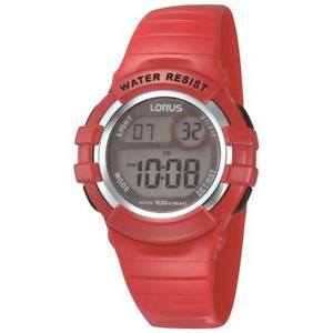 【送料無料】lorus kids digital red strap watch r2399hx9