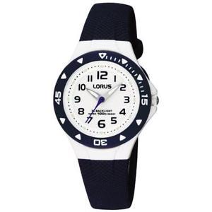 【送料無料】lorus kids time teacher navy blue strap watch rrx43cx9