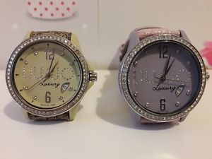 【送料無料】2 orologi liu jo luxury 5 atm water resistant stainless steel nylon fibreglass