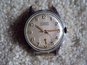 【送料無料】montre mecanique oxhor ancre 15 rubis water protectedjewels vintage watch