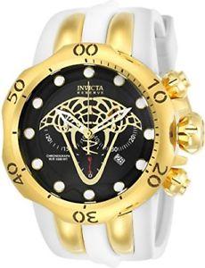 【送料無料】invicta reserve 50mm venom viper swiss quartz chronograph poly watch 24066