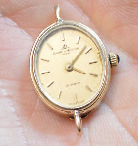 【送料無料】baume and mercier 14k gold ladies geneve quartz wrist watch 4399