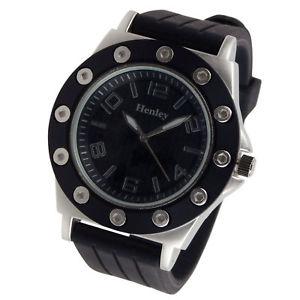 【送料無料】henley mens fashion analogue bold design edgy stylish watch gift box