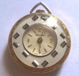 【送料無料】jolie montre femme goussetde col, lucerne suisse made , mvt desa 320