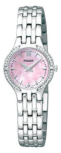 【送料無料】pulsar ladies swarovski stainless steel bracelet watch pegf19x1pnp
